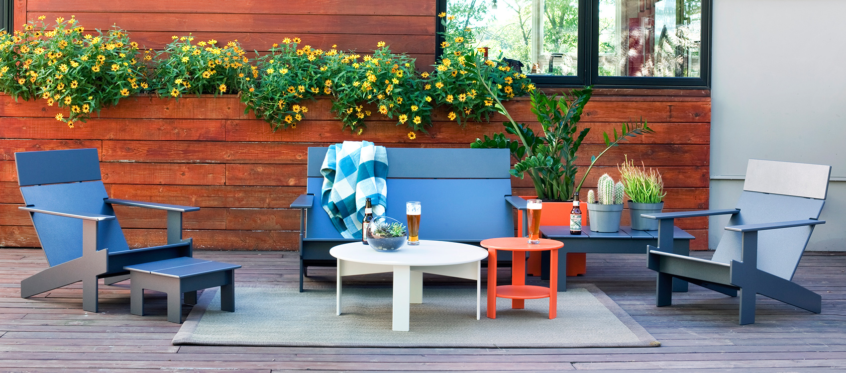loll designs, loll, loll outdoor furniture, outdoor furniture, tableware, rocker, sofa, chair, side table, urban objects pensacola,